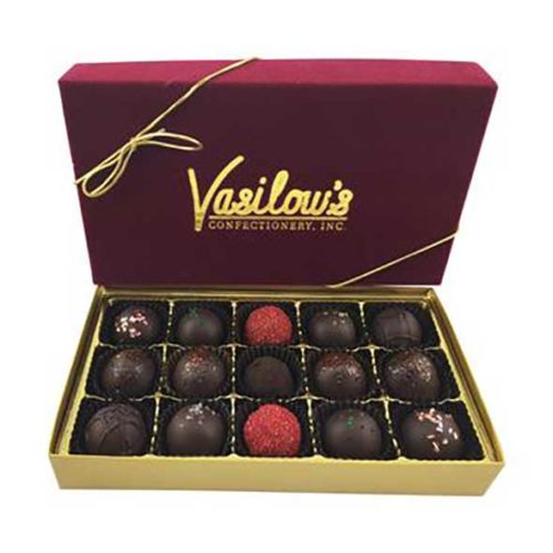 Vasilow's homemade Chocolate Truffles Gift Box 15 pieces