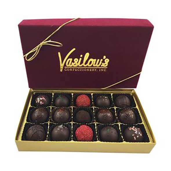 Vasilow's homemade Chocolate Truffles Gift Box 15 pieces
