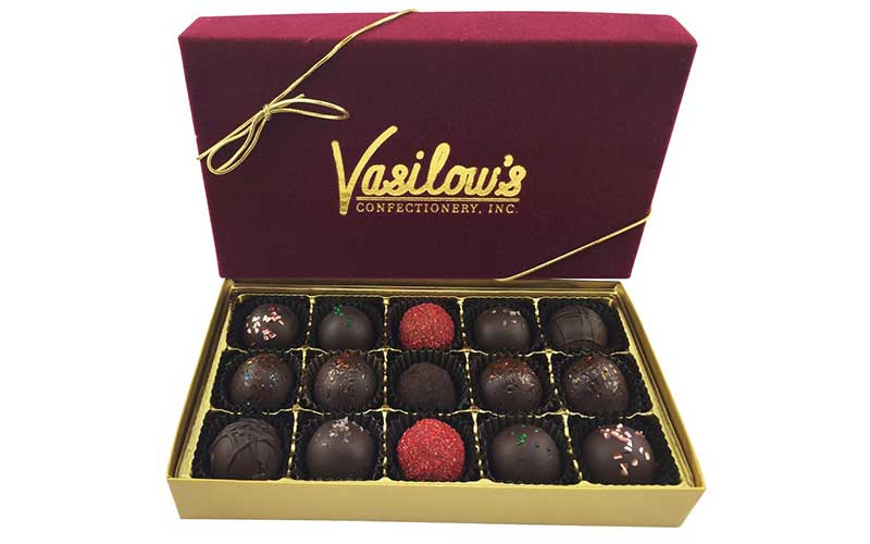 Vasilow's 15 sampler of Chocolate Truffles